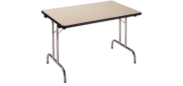 Table pliante plateau stratifié